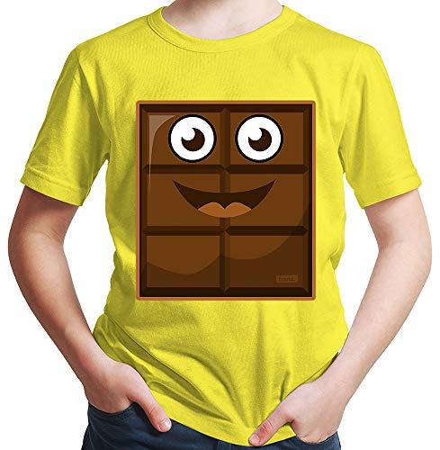 HARIZ Jungen T-Shirt Milch Und Schokolade Junge Partner Kostüm Karneval Verkleidung Inkl. Geschenk Karte Gelb 152/12-13 Jahre