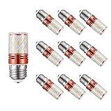 Lampadina LED Corn 16W E14 / E27 (10 Pack) 2835 SMD Lampadine LED Tre Colori Dimmerabili Super Luminose, Equivalente 120W, per Interni, Esterni Tutti I Luoghi Che Necessitano Illuminazione,E27