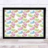 Mural art deco de 12 x 10 pulgadas postre Pastel macarrón acuarela pistacho frambuesa calabaza CinnamonBerry pared artística decoración del hogar
