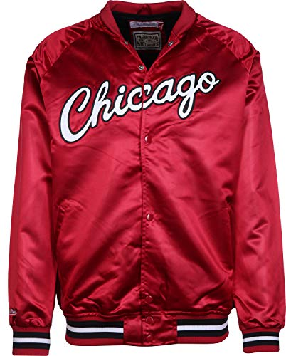 Mitchell & Ness Lightweight Satin Jacket Chicago Bulls red (L, Rot)