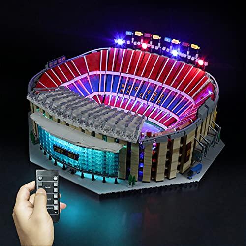 WWEI Juego de iluminación LED con mando a distancia para 10284 Camp Nou FC Barcelona Stadion, funciona con USB, compatible con Lego 10284