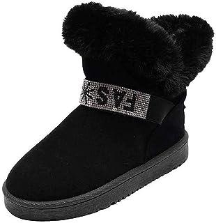 ZOSYNS Dameslaarzen, winter, sneeuwlaarzen, katoenen schoenen, outdoor, wandelschoenen, modieus, casual, warm gevoerd, com...