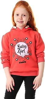 Diadora Printed Long Sleeves Hooded Sweatshirt for Girls 2 - 3 years