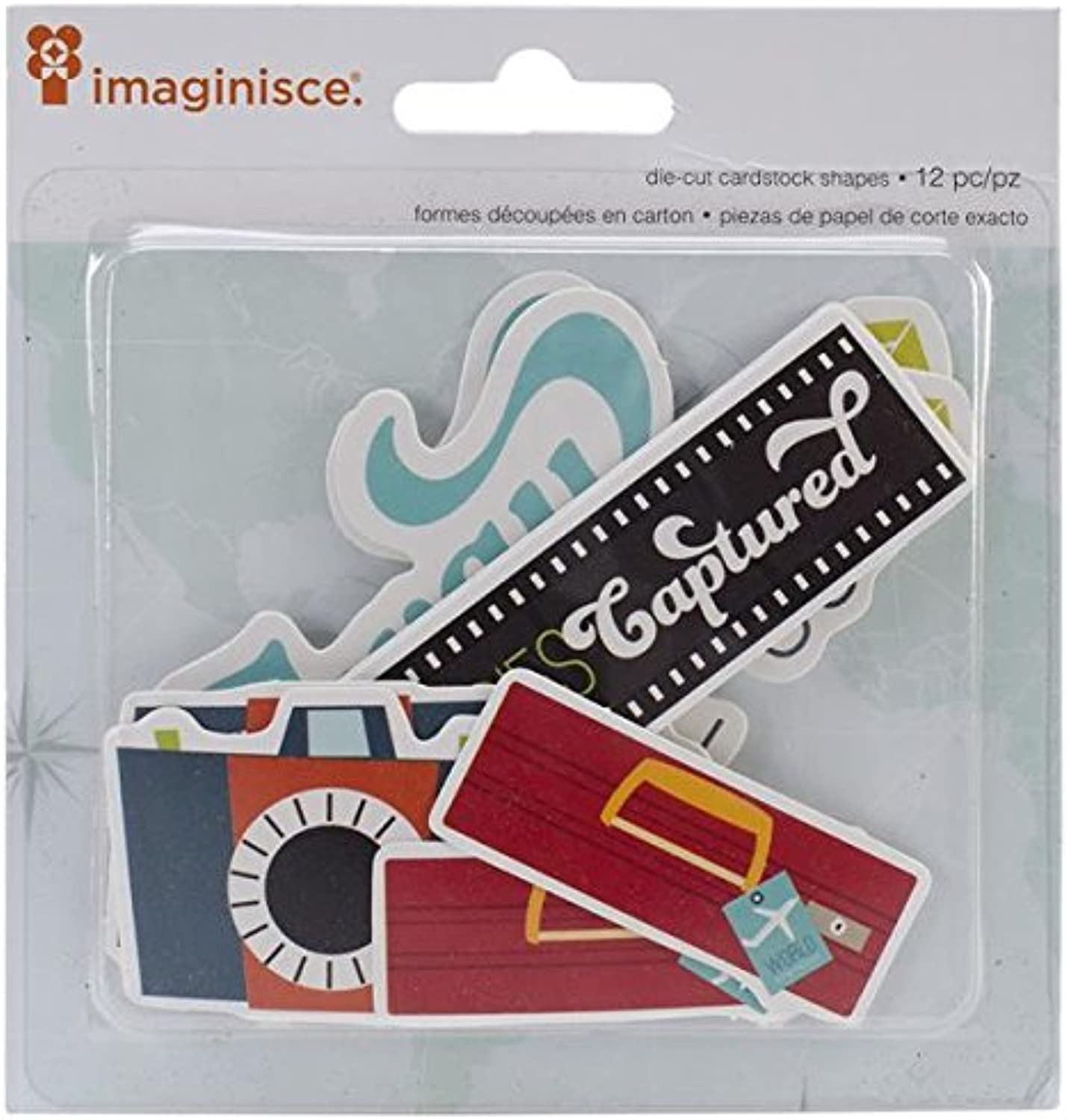 American Crafts 12Piece Imaginisce Perfect Vacation DieCuts, Flashy