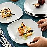 MALACASA, Serie Elisa, 12 TLG. Set 7,5″ Porzellan Dessertteller Kuchenteller Teller Set 19x19x2cm für 12 Personen - 6