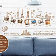 Removable Large Wallpaper World Map Wall Sticker Home Decoration Travel Photo Frame Wall Decals