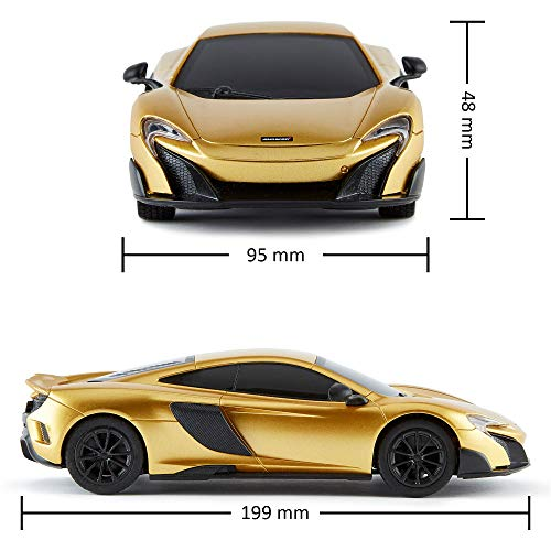 CMJ RC Cars™ McLaren 675LT Officially Licensed Remote Control Car 1:24 Scale Working Lights 2.4Ghz Gold