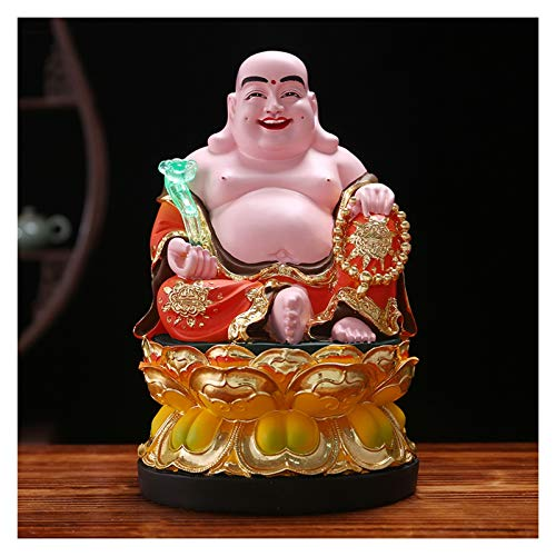 xinxinchaoshi Riqueza Suerte Estatua Estatuas de Buda Bendicin Sentado meditando 11 Pulgadas Feng Shui Decoracin con Ruyi Buddha Beads Big Belly Buddha Estatua hogar u Oficina decoracin del Hog