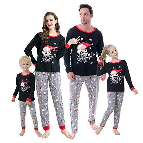 Hupohoi Family Matching Pajama Sets Cute Santa Claus Xmas Clothes Funny Family Sleepwear Sets, Santa Claus, Women-S