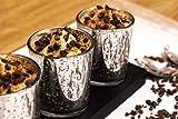 justbelight 3er-Set Glas-Teelichthalter mit Tablett | Zeitlos Schön | Elegante Tischdeko (Silber) - 2