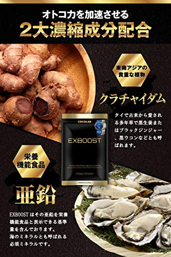 EXBOOSTクラチャイダムシトルリンアルギニンサプリメント厳選成分亜鉛日本製全7種成分配合30日分