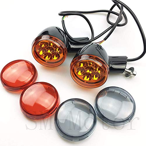 Soporte de luz LED de señal de giro frontal para Harley Touring...