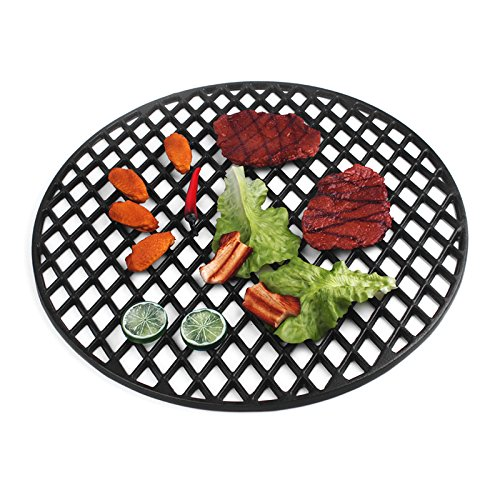 Hero Guss Grillrost Ø 54,5cm emailliertes Grillrost massives Gusseisen TOP Design inklusive Griffe !