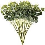 Tifuly 4 Piezas de Ramos de Hojas de eucalipto Artificiales, Hojas de eucalipto Falso de 19,7 Pulgadas Plantas de vegetación de Seda para la Fiesta de la Boda del hogar Decoración de Navidad