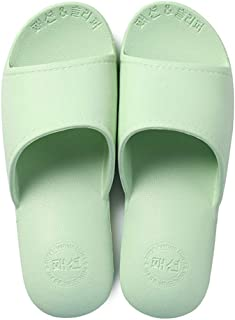 House Slippers, Bath Slipper for Women and Men, Bathroom Shower Sandals Gym Anti-Slip Slippers,Green,M