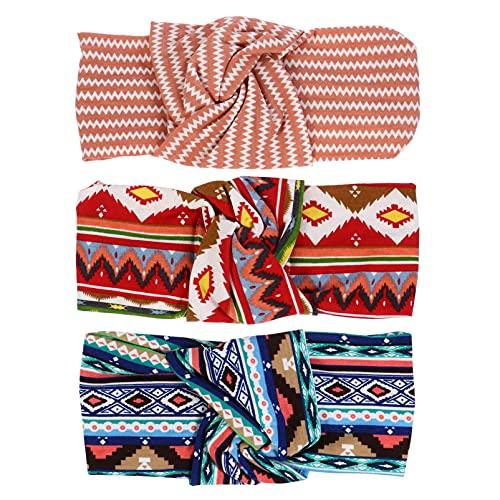 HDHUIXS Affidabile 3pcs Bohemian Style Yoga Fands Fands Elastics Head Wrap Hair Band Compatibile con Le Donne Pratico