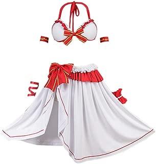 Sword Art Online Yuuki Asuna Swimming Suit Swimwear Halloween SAO Dress Cosplay Costume