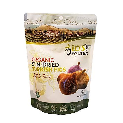 ORGANIC Turkish Dried Figs - IOS Love Organic- | Purely Figs - USDA Certified Organic Figs, NO Added Sugars, Sulfurs or Preservatives | NON-GMO, VEGAN, & KOSHER (Net 8oz)