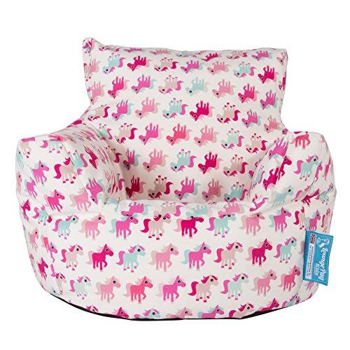 Lounge Pug®, Puff Sillón para niños, Estampado para Niños - Pequeño Pony