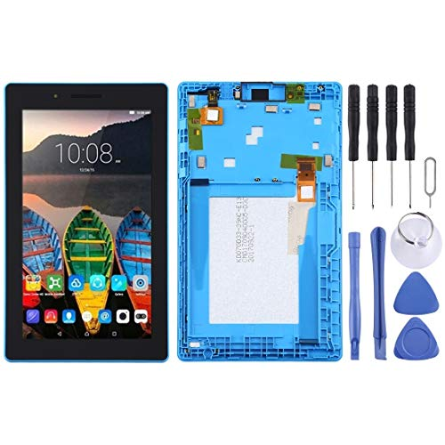 Wangl Lenovo Spare LCD Screen and Digitizer Full Assembly with Frame for Lenovo Tab 3 7 inch / TB3-710 / TB3-710F / TB3-710L Lenovo Spare (Color : Blue)