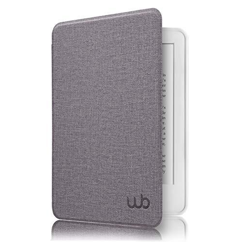 Capa Novo Kindle 10ª Geração WB® - Ultra Leve Silicone Flexível Sensor Magnético Tecido Lilás
