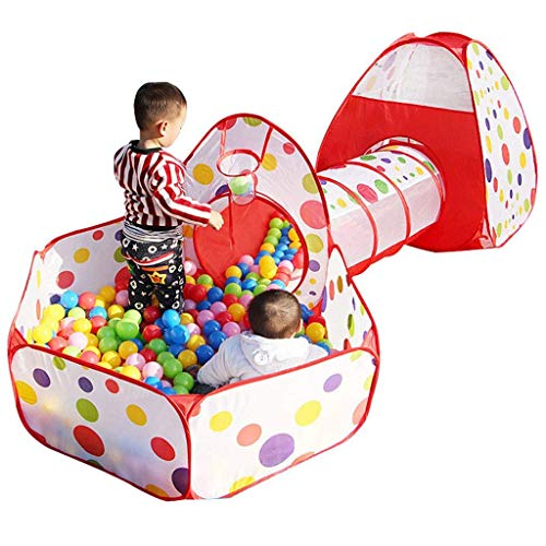 AABBC Ocean Ball Pool - Tienda Plegable para niños Casa de Juegos Interior Princess Home Girl Baby Toy Ball Piscina de Bolas de Olas 120cm (Color: Rojo)