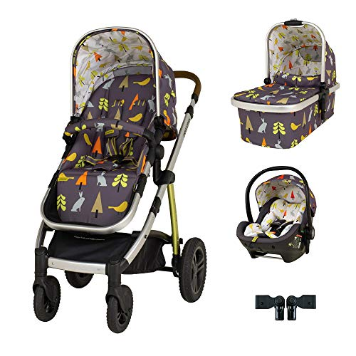 Cosatto Wow 2 Travel System Bundle in I Spy with RAC Port I Size car seat and Raincover