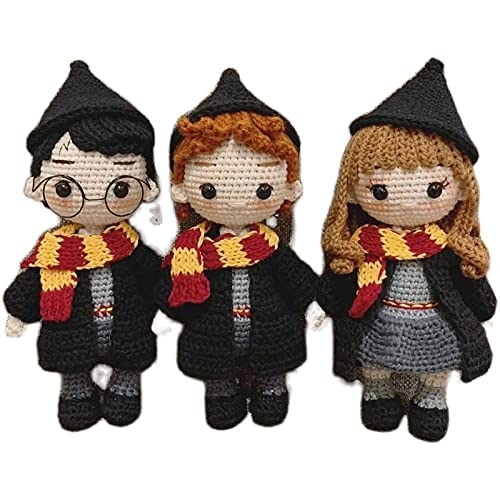 YMHM-Handmade-Toys-Knitted-Toys-Anime-Crochet-Wool-Doll-Material-Kit-Harry-Potter-Doll-Diy-Hand-Knitted-Collectible-Doll-Kids-A