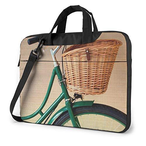 Laptop schoudertas dragen laptop tas 15,6 inch, fiets fietsmand computer hoes afdekking met handgreep
