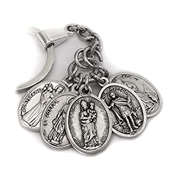 Job Seekers Holy Medal Amulet Necklace Find Work Employment Prosperity Opportunity Patron Saint Expedite St Cayetano St Martha Our Lady of Prompt Succor