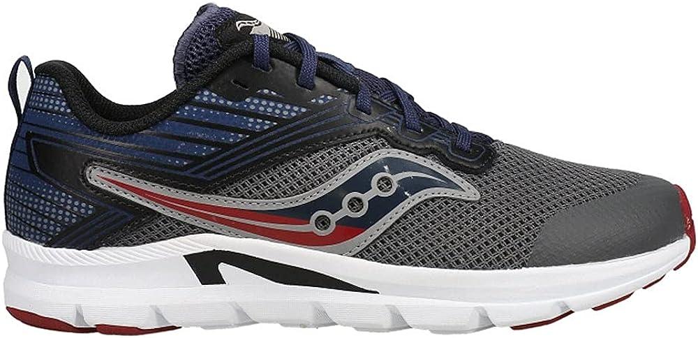 Saucony AXON outlet Running Shoe sale Grey Navy Big US Unisex Maroon 5 Kid