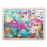 Melissa & Doug Mermaid Fantasea Wooden Jigsaw Puzzle (48pc)