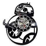 JEFEYI Reloj de Pared de Vinilo Navidad Episodio Force Avakens...
