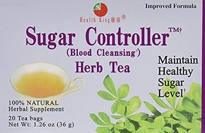 Health King Medicinal Tea, Sugar Controller, 3/20 Bag