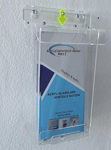 Flyerbox DIN LANG mit tagleuchtendem Hinweispfeil
