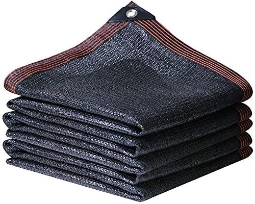 遮光ネット95%遮光率 農業用日除け 暗号化を厚くする 日除けシェード 庭のため パティオ ヤード パーティー シャオリ0605 (Color : Black, Size : 2 x 2m)