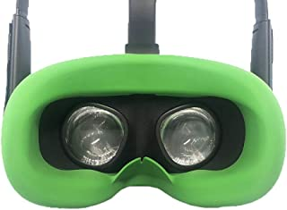 Esimen VR Face Silicone Mask Pad & Face Cover for Oculus Quest Face Cushion Cover Sweatproof (Green)