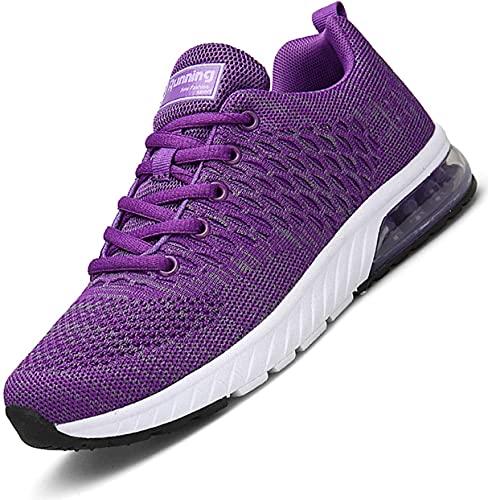 Scopri offerta per Air Scarpe da Corsa Donna Outdoor Sportive Sneakers per Fitness Trail Running Scarpa Porpora 38 EU