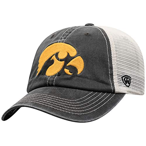 Top of the World Iowa Hawkeyes Men's Adjustable Vintage Team Icon hat, Adjustable