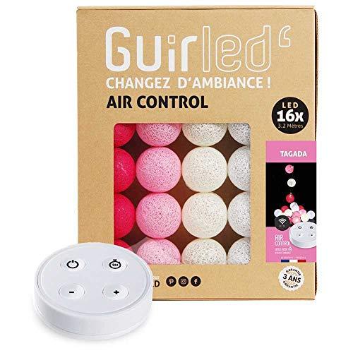 Guirlande lumineuse boules coton LED USB - Télécommande sans fil - Veilleuse bébé 2h - Adaptateur secteur...