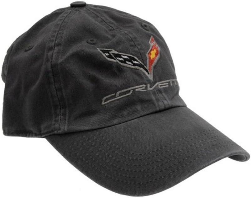 C7 Corvette Logo - Premium Garment Washed Cap/Hat (Black)