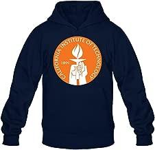 TMILLER Men's California Institute Of Technology Caltech Logo Hoodied Sweatshirt