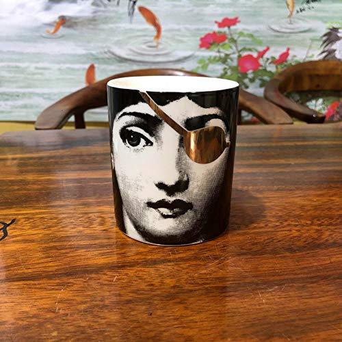Fornase ttiqk Fornasetti kaars keramische make-up pen container make-up borstel pot Lina gezicht Cup houder kaars pot decoratieve pot decoratie