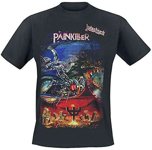 Judas Priest Painkiller Hombre Camiseta Negro M, 100% algodón, Regular