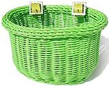 Colorbasket Kid's Front Handlebar Bike Basket,Green