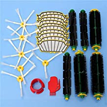 DORLIONA 24pcs Vacuum Cleaner Accessory Kit Filters and Brushes for iRobot Roomba 500 Series