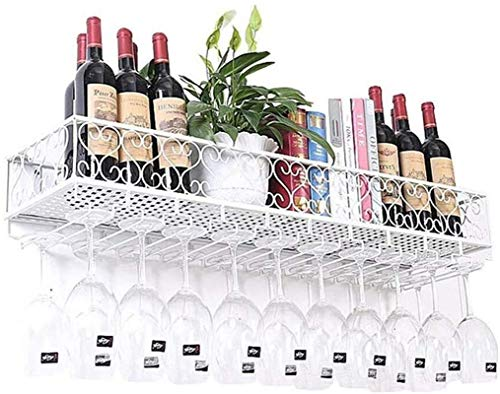 Estantería de vino Estantes de vino Almacenamiento de cocina Organización de vidrio de vino Tenedor de pared Hecho de metal  Estante de pared Estante de almacenamiento Monte en la pared  Titular de la