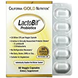 California Gold Nutrition, LactoBif Probiotics, 30 Billion CFU, 60 Veggie Caps, Milk-Free, Fish Free, Gluten-Free, Peanut Free, Salt-Free, Soy-Free, Sugar-Free, Vegetarian, Wheat-Free, Yeast-Free, CGN