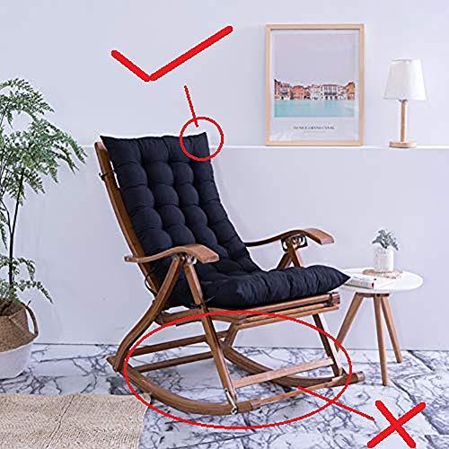 HOMEJYMADE Plegable reclinable Mecedora Cojín de la Silla,Invierno y otoño de algodón cojín Espesar Alargar Espalda Alta Cojín Silla Silla no incluida-J 48x120cm(19x47inch)