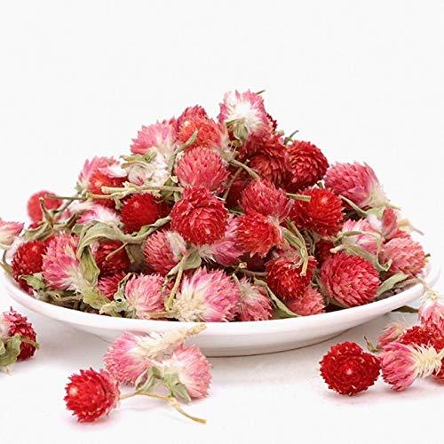KEHUITONG 60pcs Rote Knospen Natürliche getrocknete Blume DIY trocknete gepresste Blumen for Privatanwender Hochzeit Geschenke Dekoration